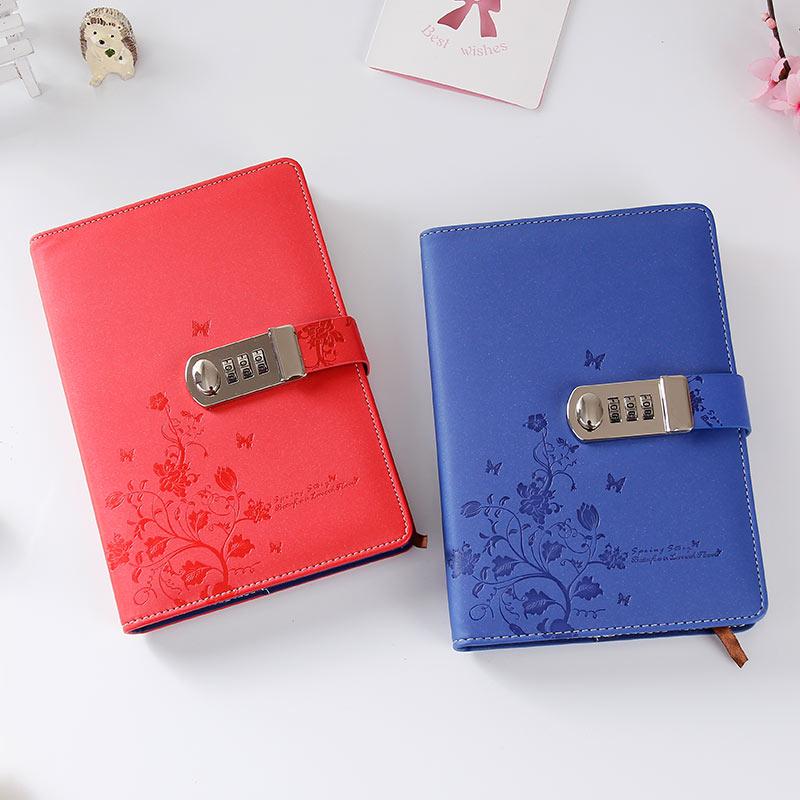 Noul notebook din piele A5 Jurnal personal cu cod de blocare Personal - Blocnotesuri și registre - Fotografie 4