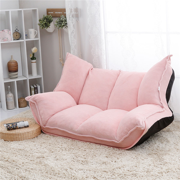 Adjustable Fabric Folding Chaise Lounge Sofa Chair Floor Couch ...