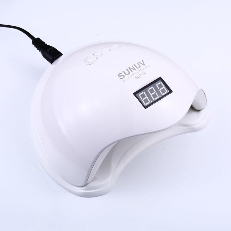 SUN5 Гель-лак 48 Вт светодио дный светодиодная УФ-лампа для ногтей с ЖК-дисплеем