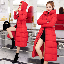 2021 New spring winter Women Fashion Down long hoodie down Parkas Cotton Jackets Thick Female Long warm coat clothing S-6XL