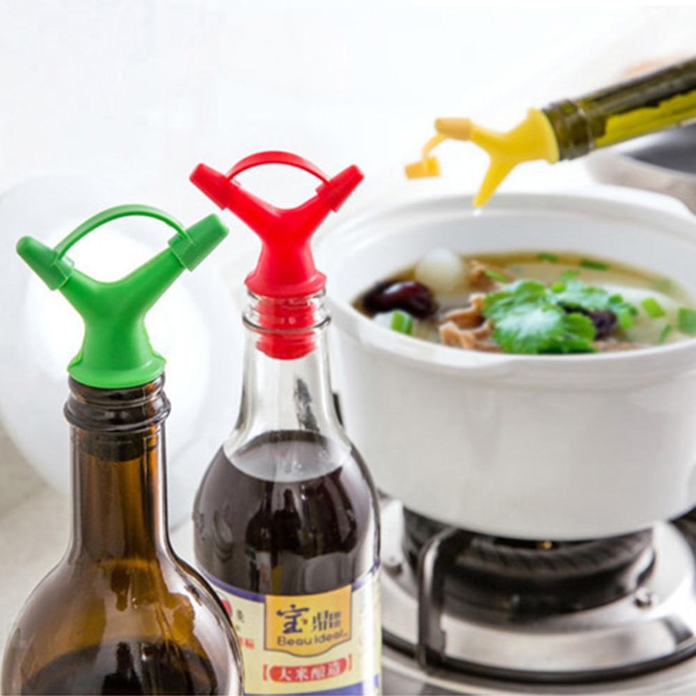 Olive Kitchen Accessories Price List: 2PCS/LOT Silicone Bottle Spout Pourer Stopper Dispenser
