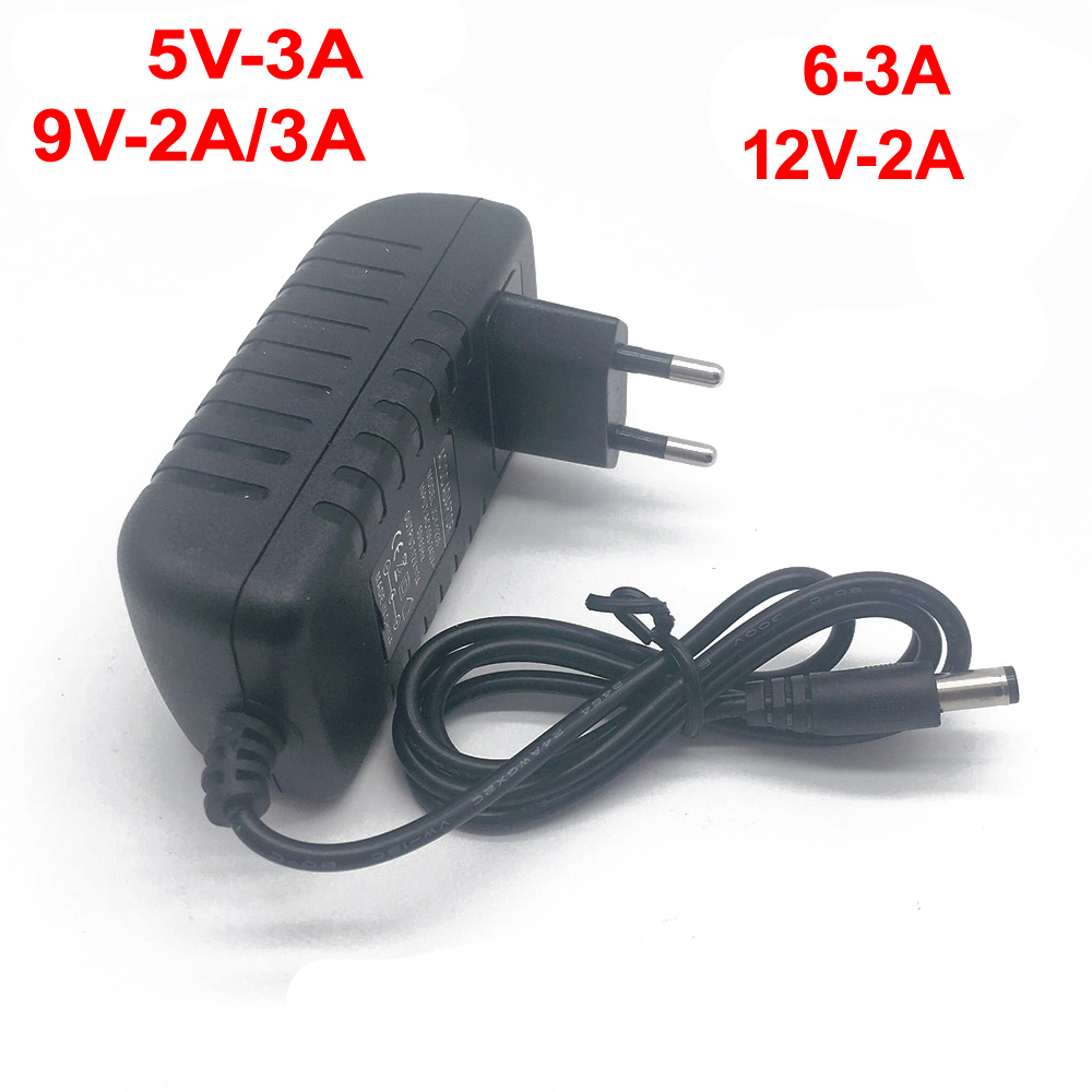 Image 2 - 1 pcs 100 240V AC to DC Power Adapter for Charger 3V 4.5V 5V 6V 7.5V 9V 12V 0.5A 1A 2A 3A EU US plug 5.5 mm x 2.1 mm-in Lighting Transformers from Lights & Lighting