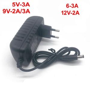 Image 2 - Adaptador de corriente de 100 240V CA a CC para cargador de 3V, 4,5 V, 5V, 6V, 7,5 V, 9V, 12V, 0,5 a, 1A, 2A, 3A, enchufe europeo y estadounidense de 5,5mm x 2,1mm 1 Uds.