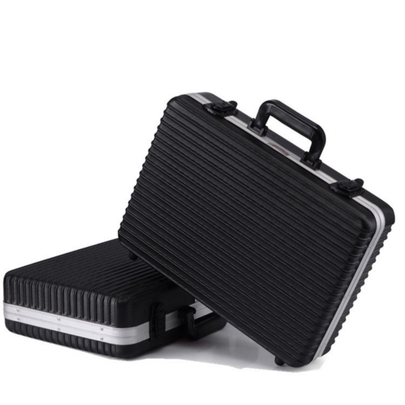 45x32x13cm Portable Aluminum Alloy Toolbox Precision Instrument Box Multi-function Anti-fall Shockproof Equipment Protection Box