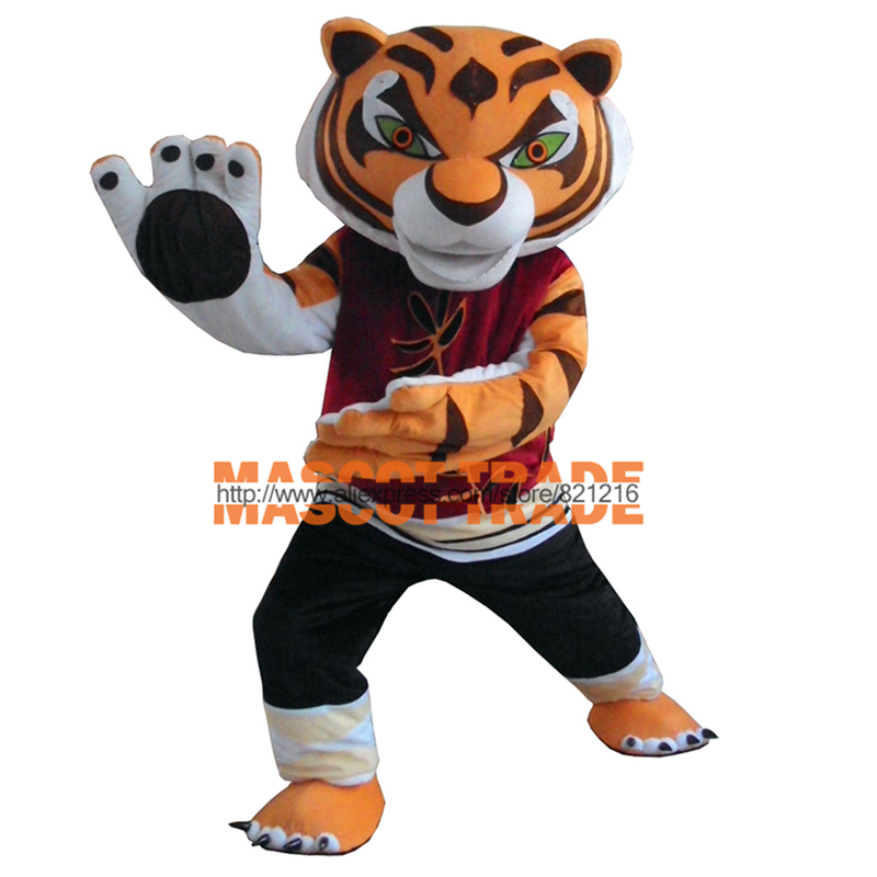 New Tigress Tiger Kung Fu Panda Mascot Costume Fancy Dress+Free Shipping