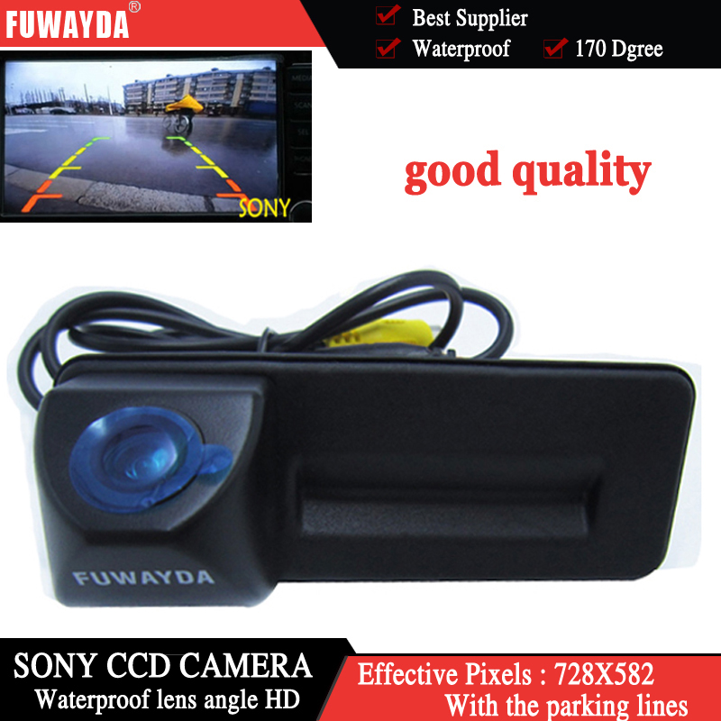 FUWAYDA sony ccd For skoda octavia fabia audi A1 car Rear view camera Car parking camera Trunk handle camera Night vision bigbigroad car trunk handle rear view backup reverse camera for skoda roomster fabia octavia 5e mk2 yeti superb audi a1
