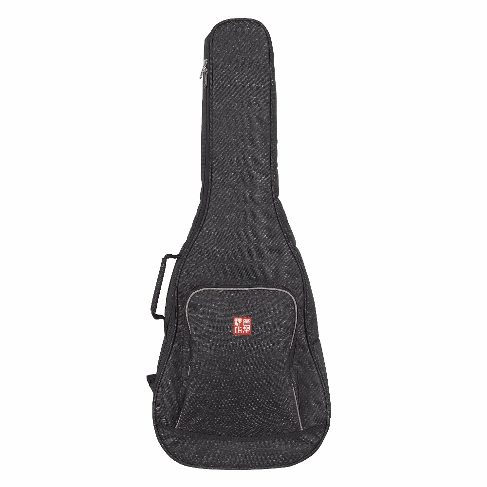 Music Area RB10 Series Acoustic Guitar Gig Bag Dacron Polyester Fabric Black Soft Guitar Case 12mm waterproof soprano concert ukulele bag case backpack 23 24 26 inch ukelele beige mini guitar accessories gig pu leather