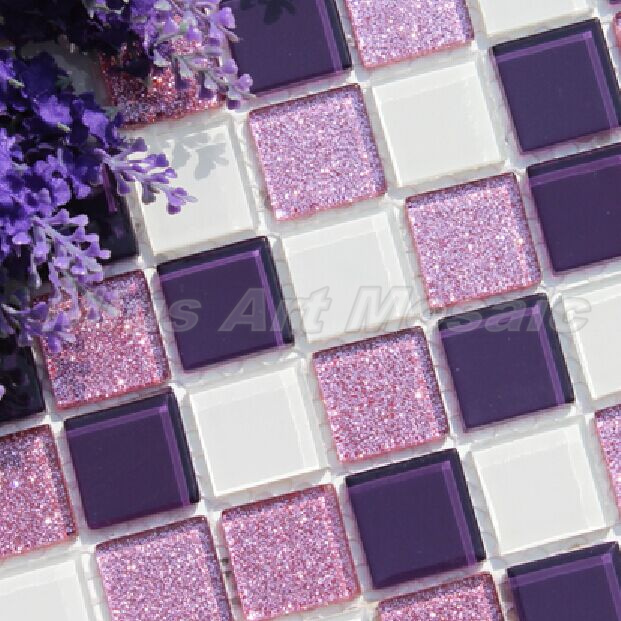 Online buy wholesale purple mosaic tiles from china purple for Purple kitchen wallpaper