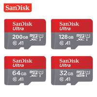 Карта памяти SanDisk 200 GB 128 GB 64 GB 32 GB 16 GB Ultra Micro SD карты SDHC/SDXC Class10 UHS-I 98 МБ/s-100MB/s высокое Скорость TF карты