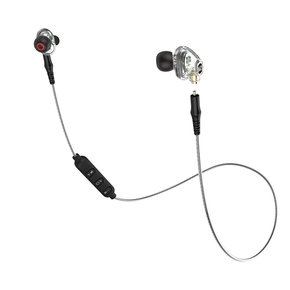 <font><b>M2</b></font> <font><b>TWS</b></font> earphone Wireless Bluetooth earbuds 3D Stereo 3.5mm plug sports headphone With Microphone 2 Drive unit volume control image