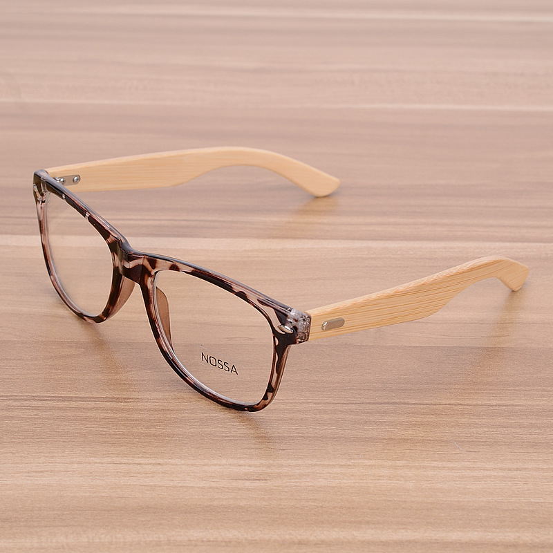 NOSSA हस्तनिर्मित बांस विंटेज Rivets चश्मा फ्रेम पुरुषों और महिलाओं के क्लासिक लकड़ी के चश्मे मायोपिया तख्ते स्पष्ट लेंस
