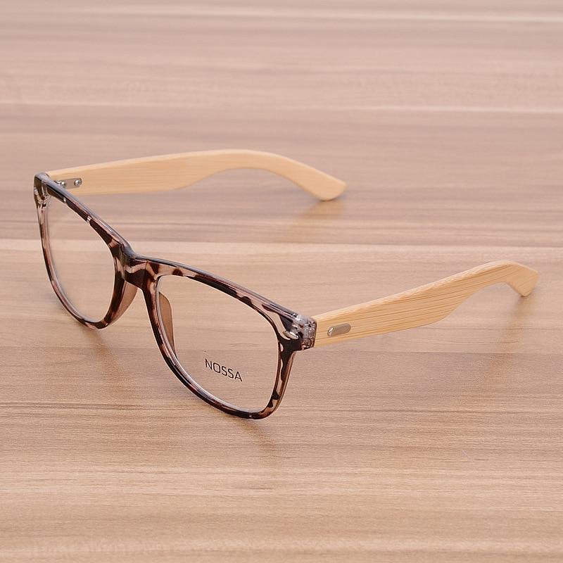 NOSSA Χειροποίητα μπαμπού Vintage πριτσίνια Γυαλιά οράσεως Πλαίσια Ανδρικά και κλασικά ξύλινα γυαλιά γυναικών Μυωπία Πλαίσια γυαλιών Clear Lens