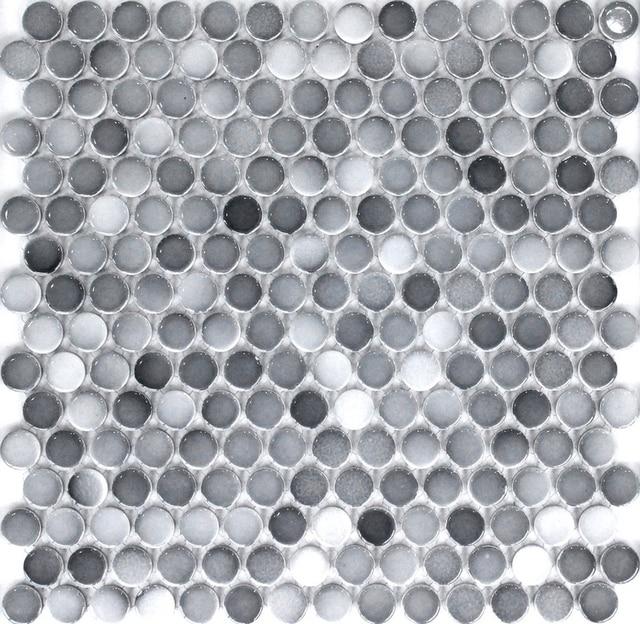 Badezimmer fliesen mosaik grau  Online-Shop Grau farbe 19mm runde keramik mosaik fliesen ...