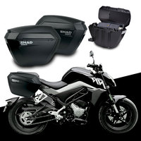 for CFMOTO 250NK NK250 250 NK SHAD SH23 Side Boxs+Rack Set Motorcycle Luggage Case Saddle Bags Bracket Carrier System