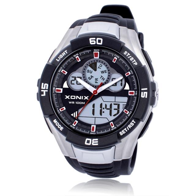 חם! למעלה גברים ספורט שעונים עמיד למים 100 m אנלוגי דיגיטלי שעון ריצה שחייה צלילה שעוני יד Montre Homme Relojes Hombre