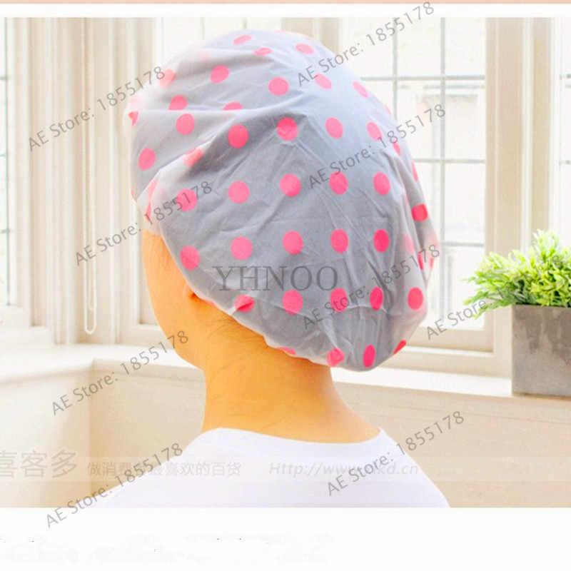 1 adet/torba Kadınlar Banyo Kapaklar Elastik Su Geçirmez Şapka Rahat Güzel Karikatür duş boneleri Banyo Banyo Ürünleri