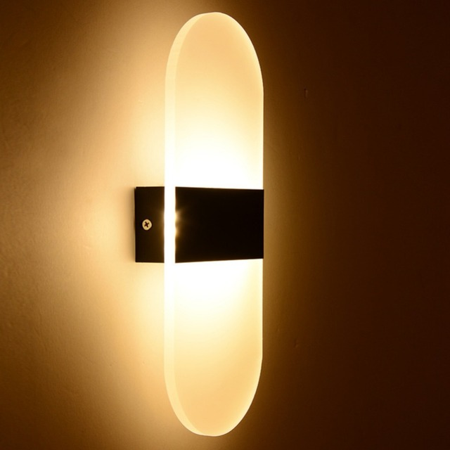 3W/5W/6W Led Acrylic Wall Lamp AC85 265V Wall Mounted Sconce Lights ...
