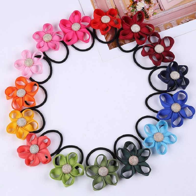 Nouvelle mode chaude mignon fleur acrylique cheveux anneaux facile ours poche oeuf pastèque chapeaux élastique pour femmes fille cadeau pas cher