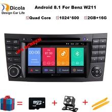 Ips HD 7 «Android 8,1 4 ядра 2 ГБ + 16 ГБ Автомобильный DVD плеер для Mercedes Benz e-класс W211 E200 E220 E240 E270 E280 2002-2008 W219