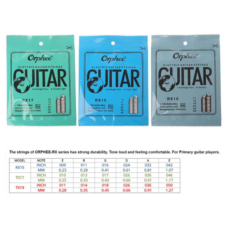 Practiced Nickel Plated Steel Guitar Strings For Electric Guitar RX 15/17/19