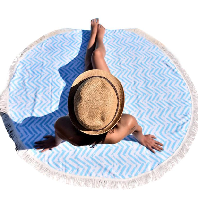 Black Friday VOT7 vestitiy 150cm*150cm Round Hippie Tapestry Beach Throw Roundie Mandala Towel Yoga Mat Bohemian Feature,Aug 10