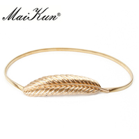 Golden Leaf Waist Belts For Women Belt Vintage Stretch Metal Chain Belt Women S Thin Elastic