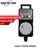 Handwheel Pulse Generator CNC Electronic Hand Wheel 6 Axis MPG MPG Diameter 80 DC5V 6pin Pulse