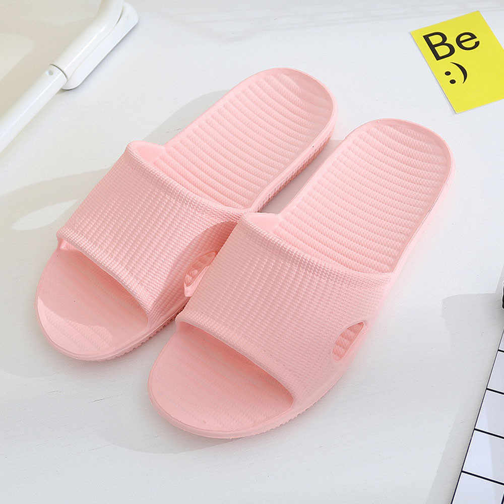 Women Autumn Summer Home Slippers Slipper Home Bathroom Skidproof Flat Slippers Casual Indoor Outside Shoes,Red,7.5