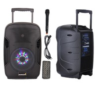 STARAUDIO SBM 10RGB PA 10 1500 Вт Active DJ перезарядки Батарея Динамик W/Bluetooth светодиодный RGB освещения 1 ручной mic