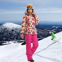 Brand Outdoor Women Ski Suit Windrpoof Ski Set Skiing Jacket And Pants Warm Winter Snowboard Coat