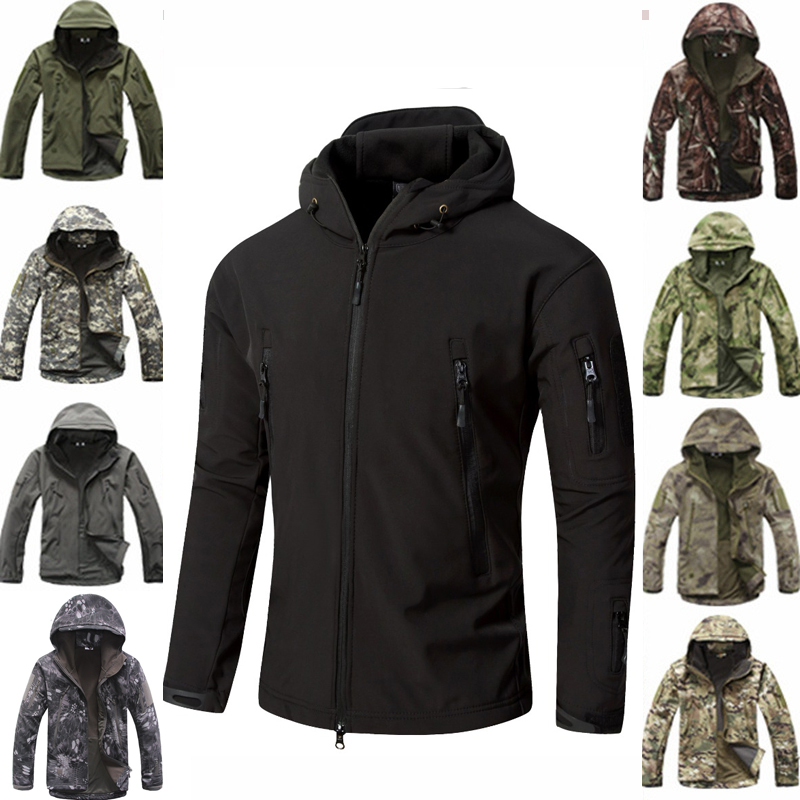Tactical Jacket Softshell Waterproof Windproof Jackets Military Camouflage Outdoor Sport Hiking Outerwear Army Jackets