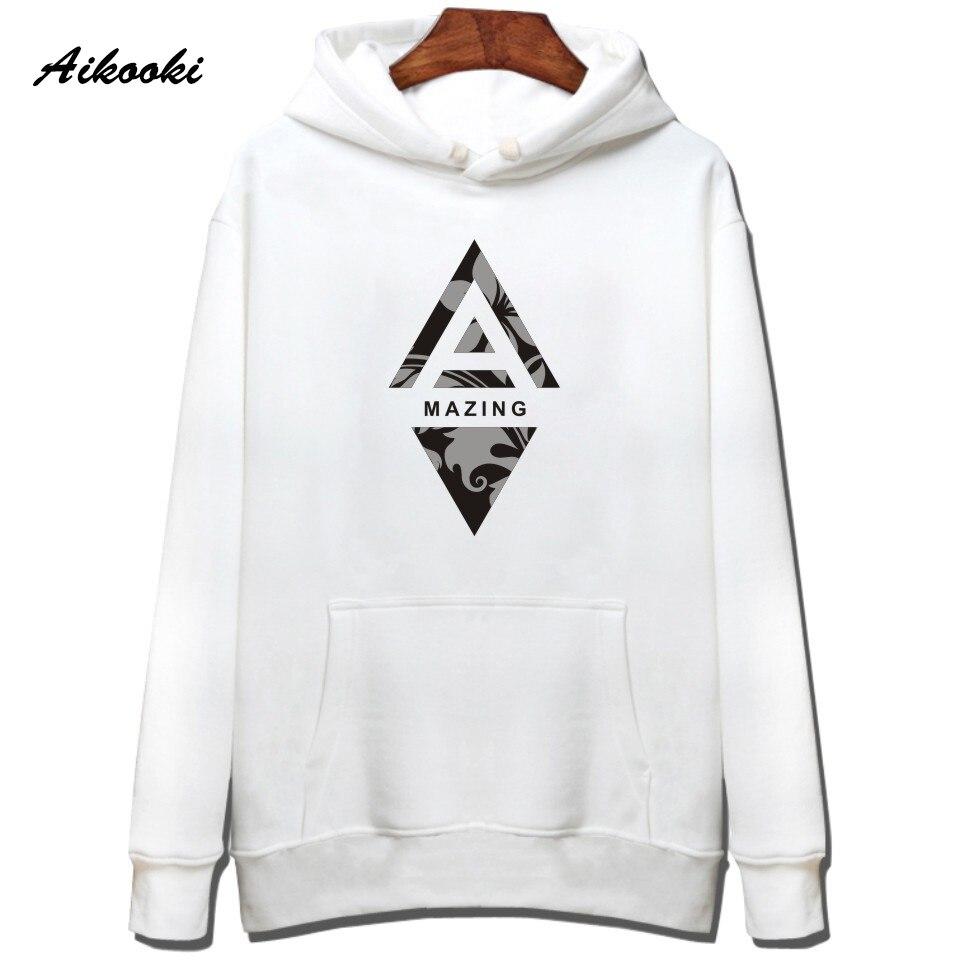 Aikooki Amazing Design Hoodie Male Sweatshirt Hip Hop Print Men Casual Funny Pullover Balck Handsome Cotton Street Women Clothes