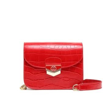 2020 New Crocodile Cow Leather Box Shoulder Bag Female Designer Luxury Genuine Leather Flap Bags Crossbody Bag