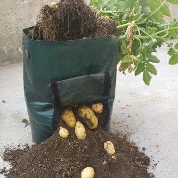 PE Bags Vegetables Potato Growing Bag Planter Pots Planters Vegetable Planting Bags Grow Bags Farm Home Garden Supplies