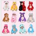 12 Constelação de Flanela Romper Do Bebê Animal Dos Desenhos Animados Do Bebê Macacão BabyBoy/Roupa Da Menina Primavera/Outono/Inverno