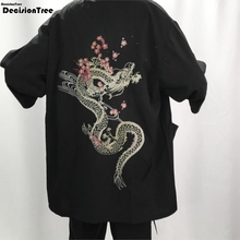 2019 embroidery men japanese yukata coat kimono outwear vintage japanese kimono men traditional asian clothes haori men s dress suit feather woven traditional warrior kimono japanese wedding adult kimono