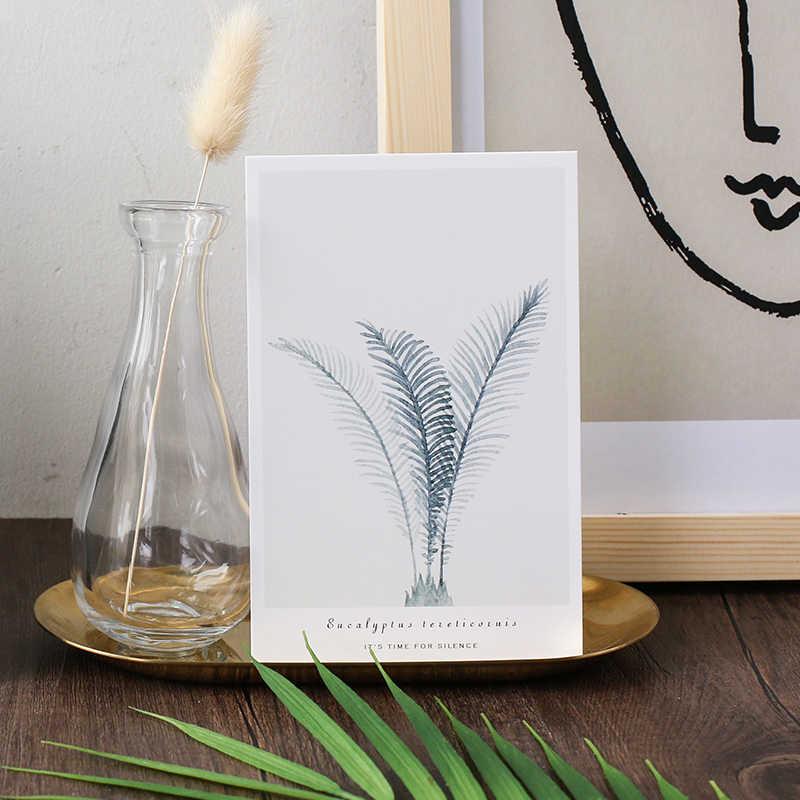 Card Lover leaf & plant โปสการ์ดบุ๊คมาร์คกระดาษ Letter บัตรอวยพร 1 lot = 1 pack = 30 pcs