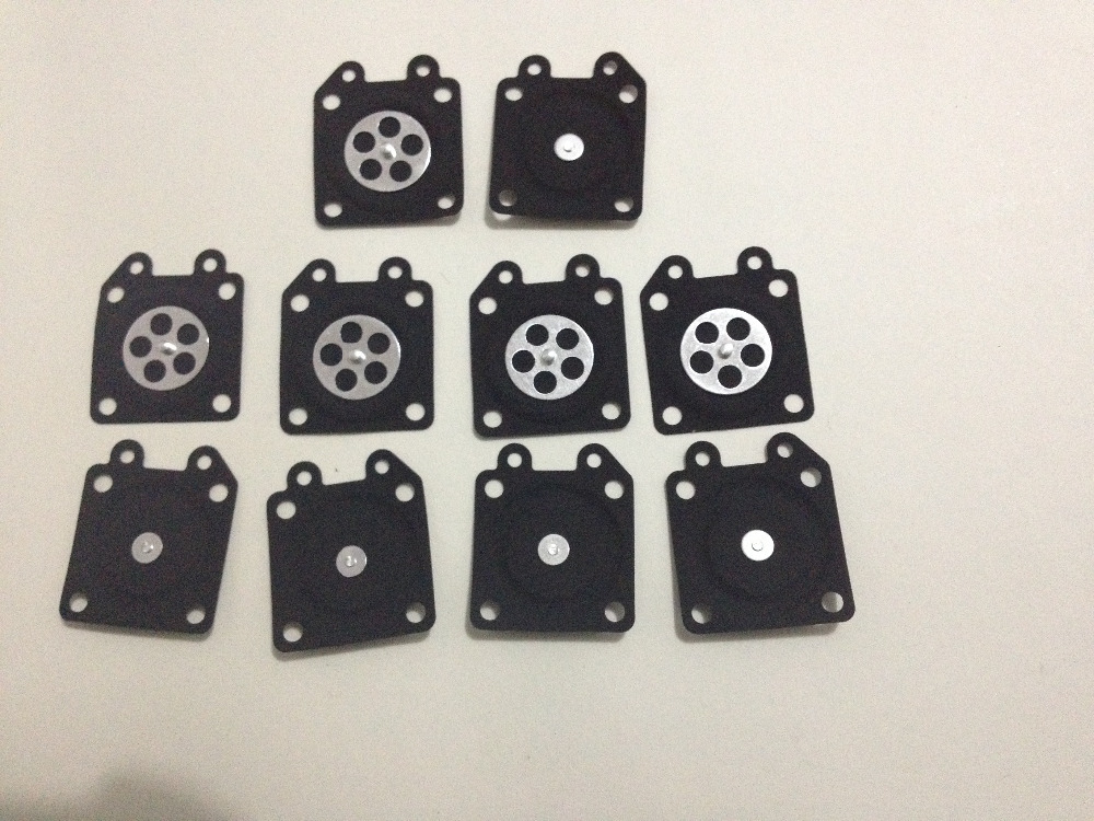 10PCX Metering diaphragm assembly WALBRO WA WT WY WYJ WYK WYL WYM WYP WZ carburetor Zenoah 2500 3800 4500 chainsaw repair Parts 10pcs carburetor metering diaphragm assembly small engine carburetor metering diaphragm replaces zama a015053 trimmer
