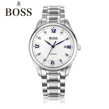 БОСС Германии часы мужчины люксовый бренд автоматические механические часы мужские из нержавеющей стали подлинной алмаз классический montre Homme