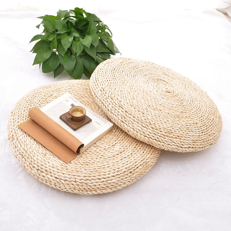 US $27 22 5% OFF|Corn bran Straw Seat Cushion Handmade Round Futon Cushions  Japanese Style Tatami home decor FREE SHIPPING-in Cushion from Home &