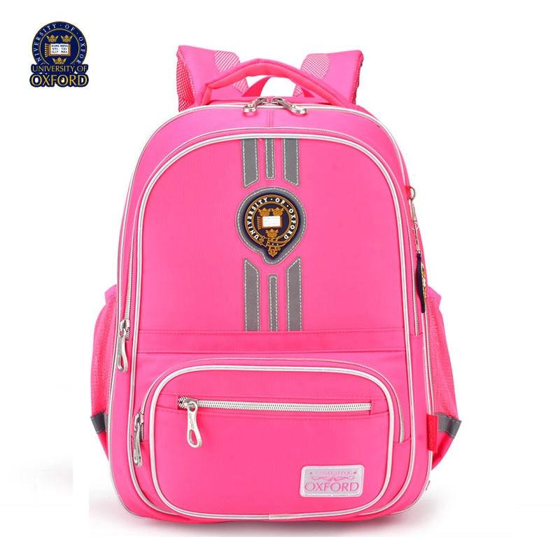 UNIVERSITY OF OXFORD CHILDREN KIDS Elementary orthopedic school bag shoulder backpack portfolio books bag for girls grade 2 6-in School Bags from Luggage & Bags    1