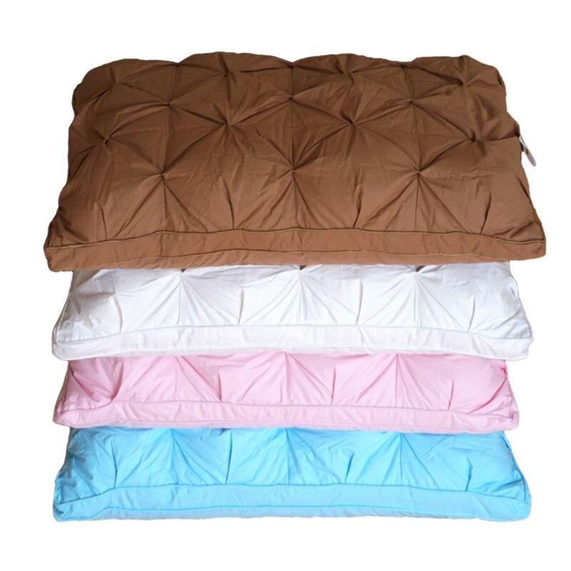 Oreiller de literie en duvet d'oie/canard blanc/bleu/rose/marron couverture en coton doux de Style français en forme de pain