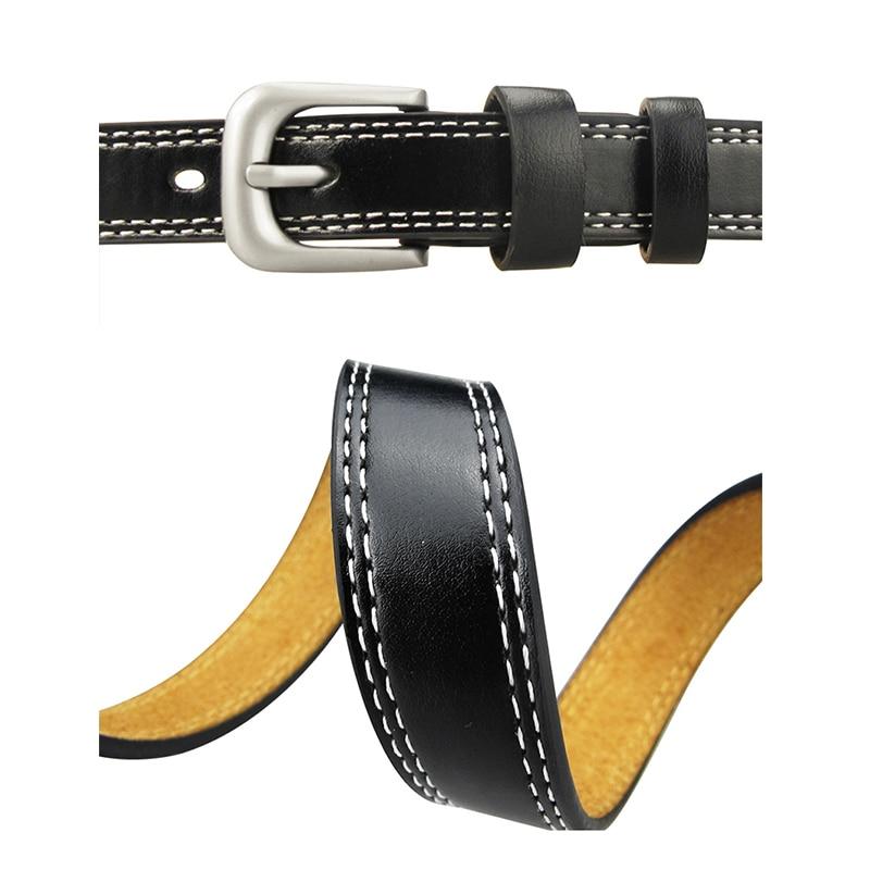Top Quality Cowskin Leather Belts for Women Cummerbund Luxury Female Belt Decorative Simple Waist Belt Candy Color Drop Shipping 3