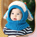 2017 New High Quality Coif Hood Scarf Caps Winter Baby Hats Kids Girls Boys Warm Woolen Coif Hood Scarf Caps Free Shipping
