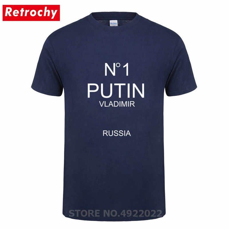 Moda rússia presidente putin camiseta masculina manga curta carta design rússia vladimir t-shirts vendedor