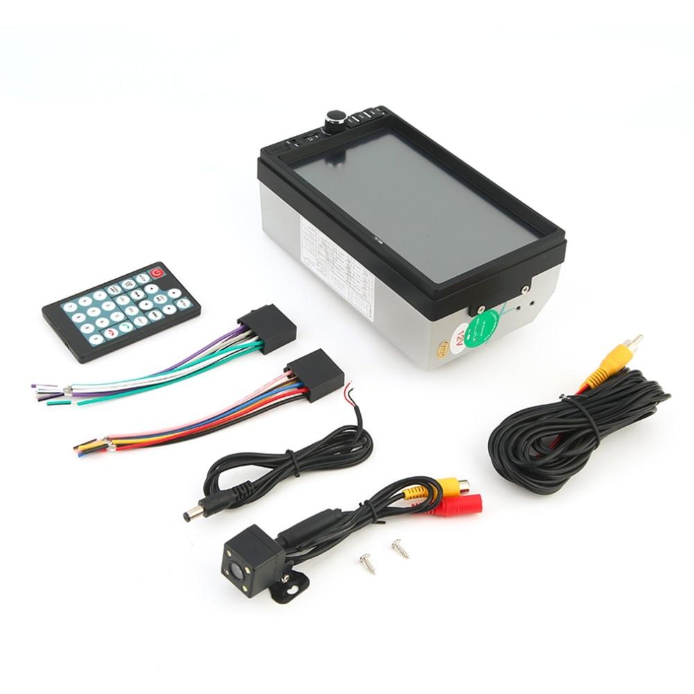 Vehículo 7 pulgadas tarjeta TF pantalla doble din Bluetooth reproductor de DVD de alta calidad Auto reproductor multimedia reproductor de audio negro