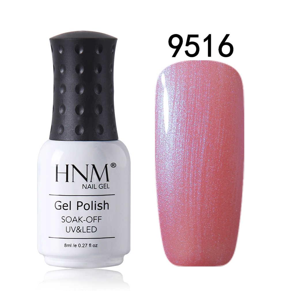 HNM 8 ml פגז גליטר נייל משרים Off UV LED לאורך זמן סלון נייל אמנות לכה Primar בסיס למעלה מניקור לכה