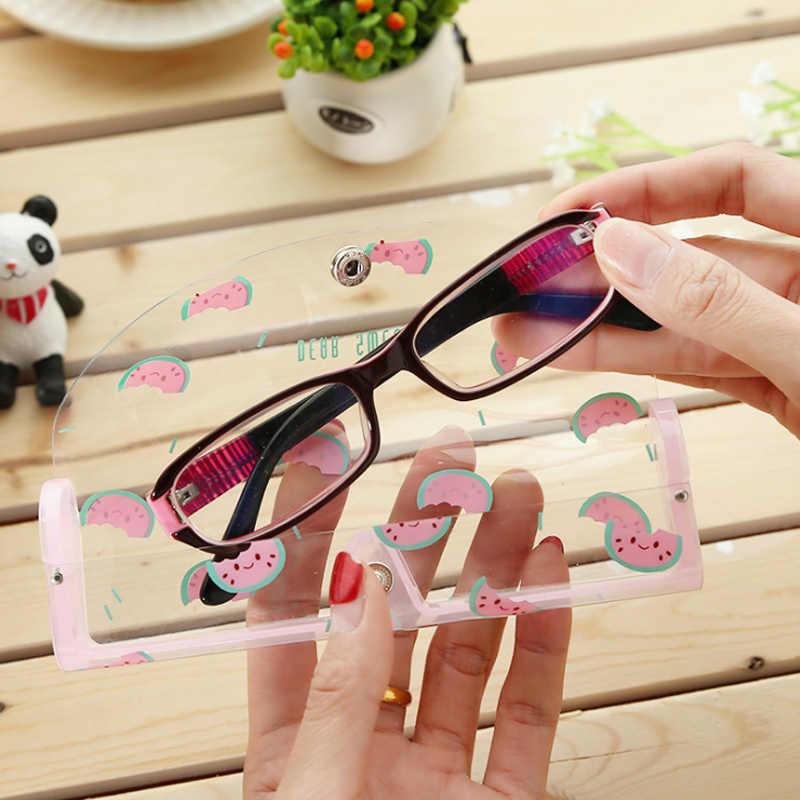 2018 Occhiali caso PVC contenitore di vetro occhiali da lettura Trasparenti custodia in plastica degli occhiali caso per miope lente 4 Colori multicolore
