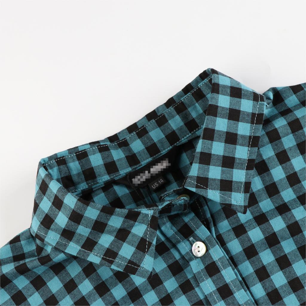 MCO Autumn Basic Plus Size Check Top For Office Ladies Simple Oversized Women Blouse Classic Plaid Shirt Big Size 5xl 6xl 7xl 3