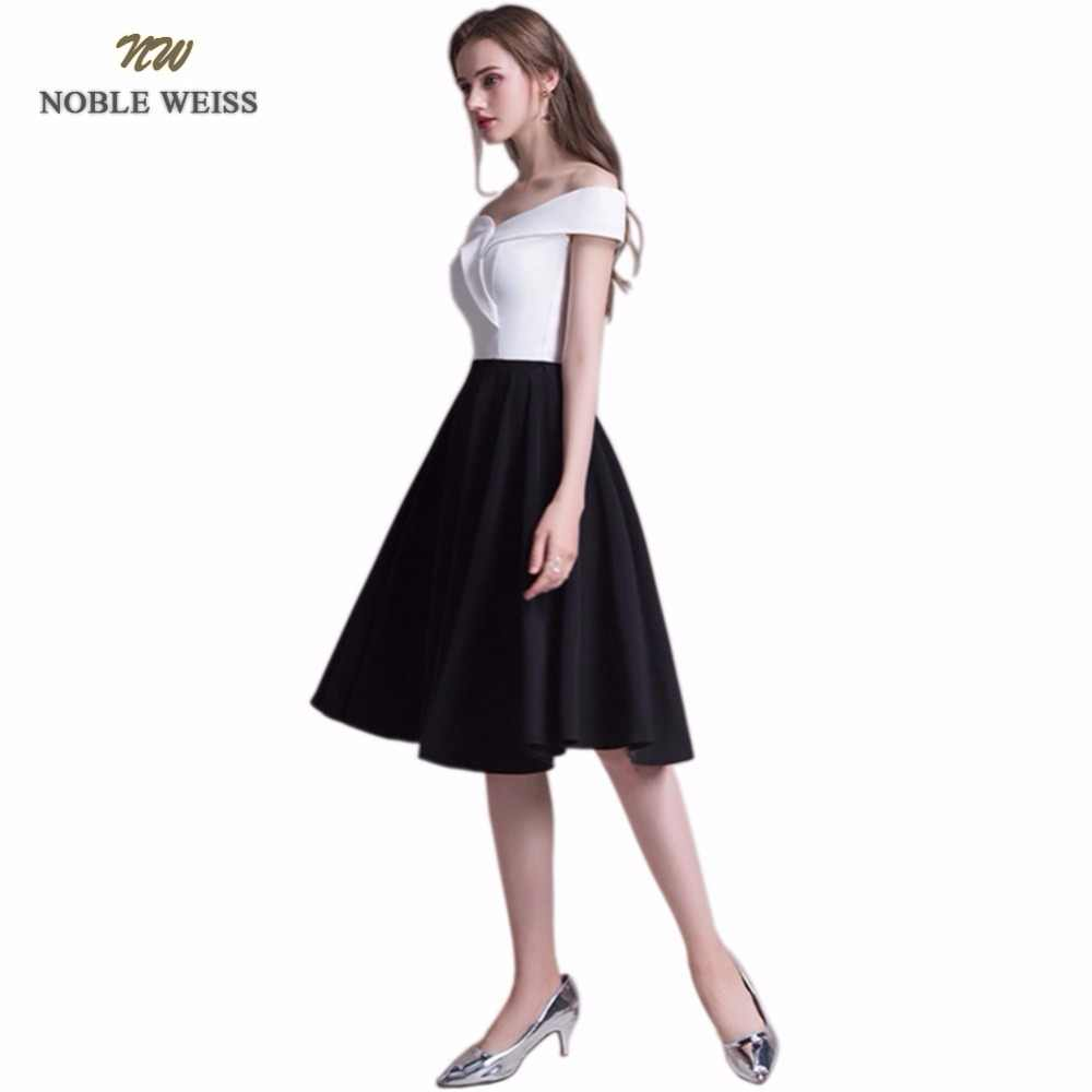 ab95b4f600c ... NOBLE WEISS Short Prom Dress 2019 V-Neck Sexy Satin Sleeveless Junior  School Prom Gown ...